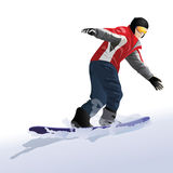 snowboarder stock illustrationer