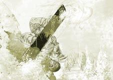 Snowboarder stock illustrationer