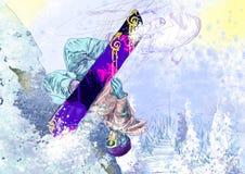 Snowboarder royaltyfri illustrationer