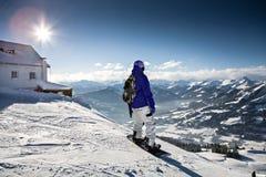 Snowboarder Stockbild