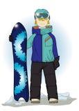 Snowboarder Στοκ Εικόνες