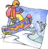 Snowboarder vektor abbildung