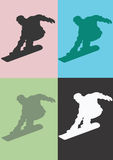 Snowboarder vector illustratie