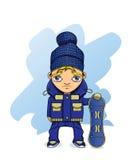 Snowboarder иллюстрация вектора