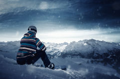 Snowboarder Imagen de archivo libre de regalías
