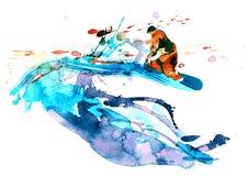 Snowboarder stock illustratie