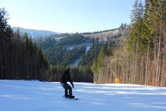 Snowboarder στοκ εικόνα
