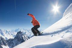 Snowboarder Fotografie Stock Libere da Diritti