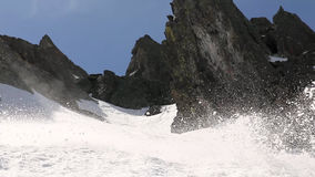 Snowboarder video estoque