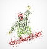 Snowboarder abstrait Images libres de droits