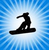 Snowboarder in actie Stock Afbeeldingen
