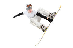Snowboarder adolescente fotografia stock libera da diritti