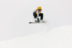 Snowboarder in the alps Royalty Free Stock Images