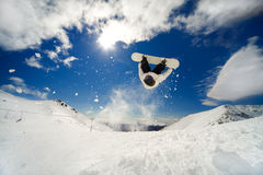 Snowboarder backflip Stock Image
