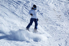 Snowboarder bianco Fotografia Stock Libera da Diritti