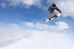 Snowboarder branchant images libres de droits