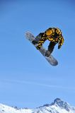 snowboarder branchant Photos stock