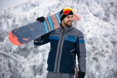 Snowboarder - concetto di stile di vita degli sport invernali immagine stock libera da diritti