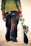 Snowboarder. cruz-proceso de efecto Fotos de archivo libres de regalías