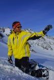 snowboarder de conduite libre Image libre de droits