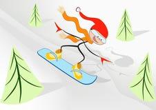Snowboarder de la alegría. Fotos de archivo libres de regalías
