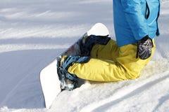 Snowboarder de las piernas, deportes activos Imagenes de archivo