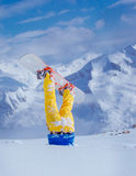 Snowboarder in deep snow Stock Photo