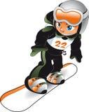 Snowboarder del bambino Fotografia Stock