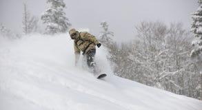 Snowboarder del estilo libre Foto de archivo libre de regalías