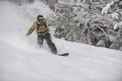 Snowboarder del estilo libre Imagen de archivo libre de regalías
