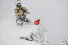 Snowboarder del estilo libre Fotografía de archivo libre de regalías