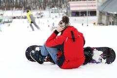 Snowboarder, deportes activos Imagen de archivo