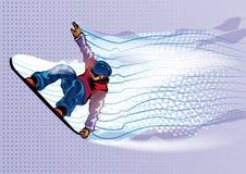 Snowboarder di salto royalty illustrazione gratis