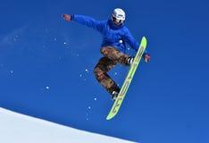 Snowboarder di stile libero Fotografie Stock