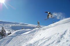 De Sprong van Snowboarding Stock Afbeeldingen