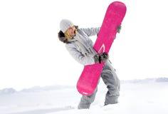Snowboarder divertido Fotos de archivo libres de regalías