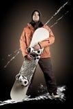 Snowboarder do atleta Imagem de Stock