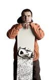 Snowboarder do atleta Fotos de Stock
