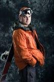 Snowboarder do atleta Imagens de Stock Royalty Free