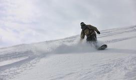 Snowboarder do estilo livre Imagem de Stock