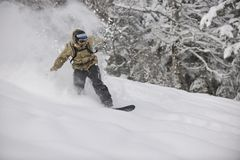 Snowboarder do estilo livre Imagem de Stock Royalty Free