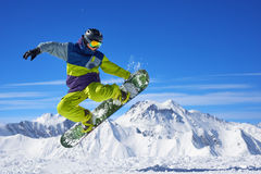Snowboarder doing trick Stock Image