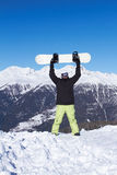Snowboarder in Dolomites Royalty Free Stock Photos