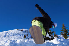 Snowboarder in Dolomites Royalty Free Stock Photo