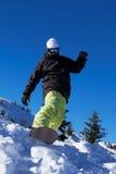Snowboarder in Dolomites Stock Image