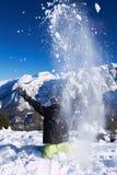 Snowboarder in Dolomites Stock Photos