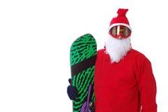 Snowboarder,dress as Santa Claus Stock Photos