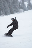 Snowboarder en nevadas Imagen de archivo