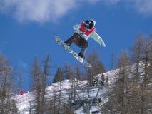 Snowboarder estremo Fotografia Stock