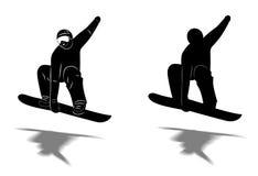 Snowboarder estremo Fotografie Stock